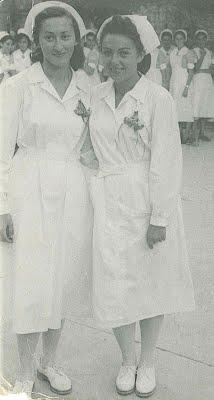 """טקס הסמכה , בי""""ס לאחיות הדסה ירושליים 1950"""